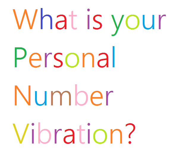 Find out your Personal Number Vibration